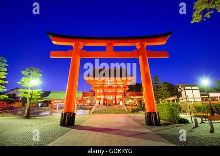 Fushimi Inari Shrine in Kyoto, Japan. - Stock Photo