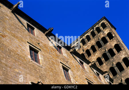 Plaça del Rei square, facade of palau del lloctinent,. Gothic quarter, Barcelona, Spain - Stock Photo