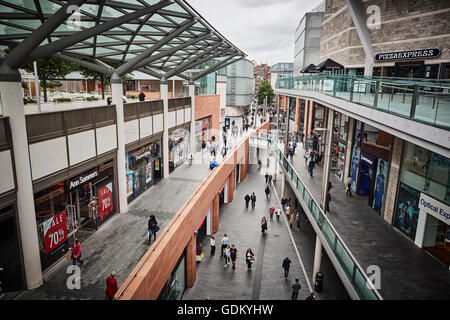 Liverpool one shopping centre   Liverpool ONE is a shopping, residential and leisure complex in Liverpool, England. - Stock Photo