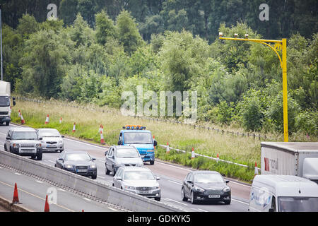 M6 Motorway    VECTOR from the family of SPECS average speed camera systems utilise state of the art video system - Stock Photo
