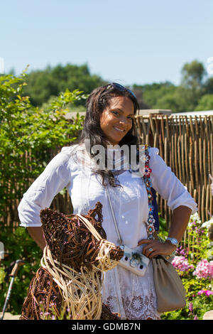Tatton Park, Knutsford, UK. 19th July, 2016. The 'Real Housewives of Cheshire' star Magali Gorre visits the Tatton - Stock Photo