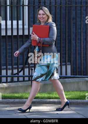 London, UK. 19th July, 2016. Newly appointed Culture Secretary, Karen Bradley arrives for PM Theresa May's first - Stock Photo