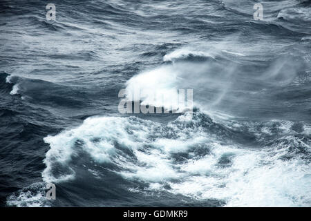 Storm force winds and rough seas - Stock Photo