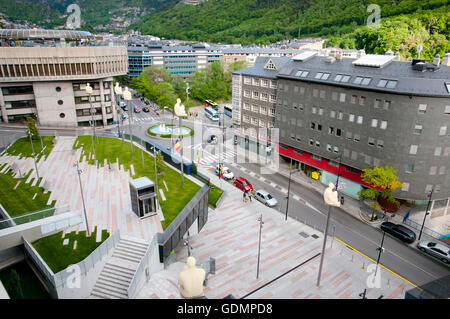 Prat de la Creu Street - Andorra - Stock Photo