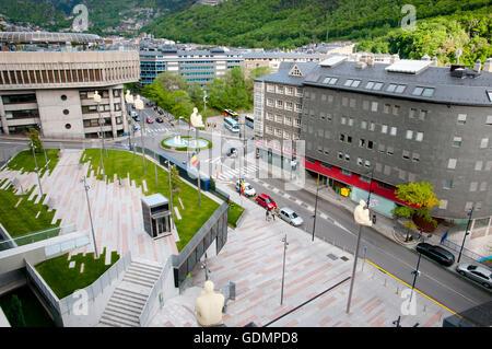 Prat de la Creu Street - Andorra - Stock Photo