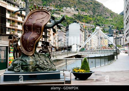 'Nobility of Time' Monument - Andorra La Vella - Andorra - Stock Photo