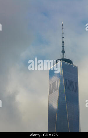 detail of Freedom Tower in lower Manhattan - Stock Photo