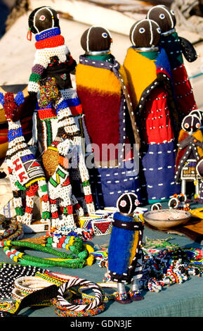 Traditional south african ndebele doll stock photo for African arts and crafts