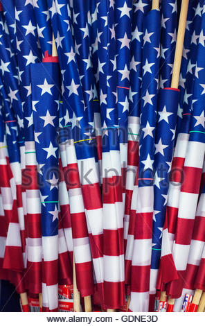 Stars and stripes flags, rolled up - Stock Photo