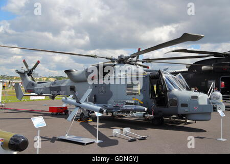 Farnborough International Airshow 2016 provided a great display of modern military and civilian aircraft technoogy - Stock Photo