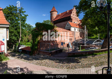 Olsztyn the Gothic castle, Poland, Europe. - Stock Photo