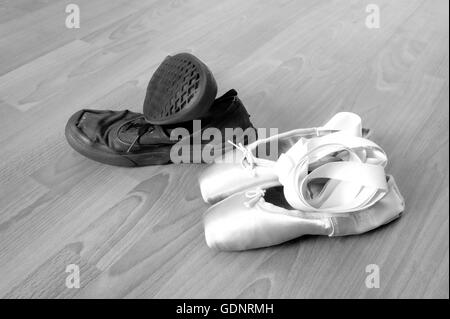 12e3eef3d Well worn pointe shoes Stock Photo  310377819 - Alamy