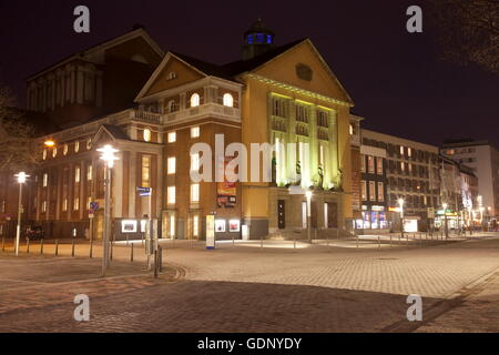 geography / travel, Germany, North Rhine-Westphalia, Hagen, theatre, night shot, , Additional-Rights-Clearance-Info - Stock Photo
