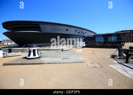 A general view of the Mary Rose Museum, Portsmouth Historic Dockyard, HM Naval Base, Portsmouth. - Stock Photo