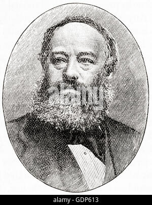 James Prescott Joule,  1818 – 1889.  English physicist and brewer. - Stock Photo