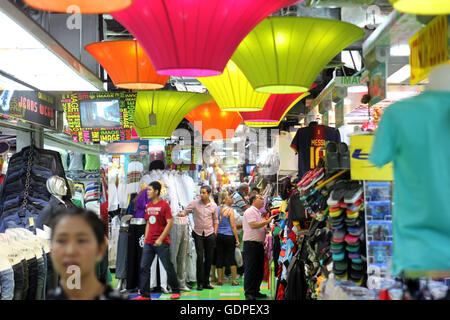 People near the MBK Shopping Mall near the Siam Square in ...