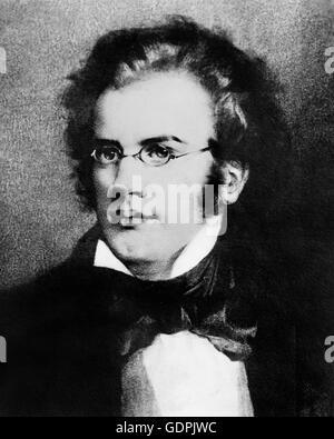Franz Schubert. Portrait of the Austrian composer, Franz Peter Schubert (1797-1828). - Stock Photo