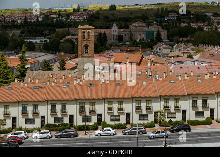 The Church of San Martin. Avila city, Castile and Leon, Spain, Europe - Stock Photo
