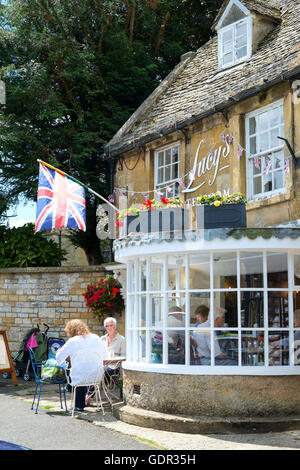 Stow-on-the-Wold a Cotswold town in Gloucestershire England UK Lucys Tearoom - Stock Photo