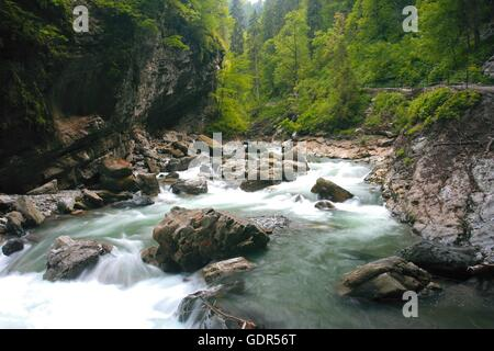 geography / travel, Germany, Bavaria, landscapes, Alps, Breitachklamm near Oberstdorf, , Additional-Rights-Clearance - Stock Photo