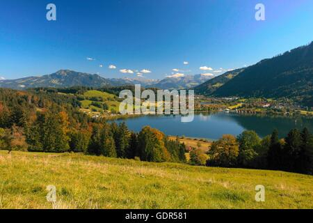 geography / travel, Germany, Bavaria, landscapes, Alps, Grosser Alpsee near Immenstadt, Gruenten, No-Coffee-Table - Stock Photo