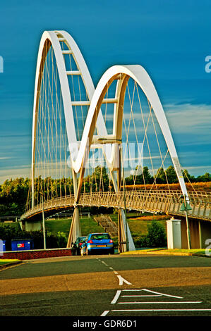 Infinity Bridge, Stockton on Tees Stock Photo