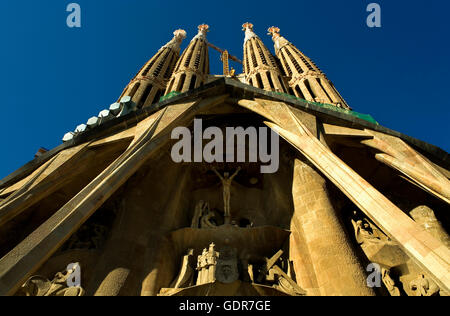 Barcelona, La Sagrada Familia: Passion façade - Stock Photo
