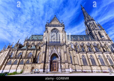 New Cathedral of the Immaculate Conception, Neuer Dom, by day in Linz, Austria - Stock Photo