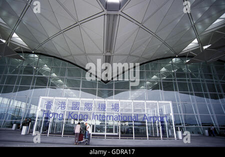 the new international airport of Hong Kong in the south of China in Asia. - Stock Photo