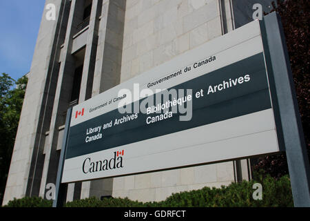 OTTAWA, ONTARIO - The Library and Archives building on Wellington Street. - Stock Photo