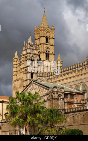 Cathedral, Palermo, Sicily, Italy - Stock Photo