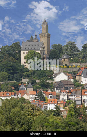 geography / travel, Germany, Hesse, Kronberg in Taunus, city view with castle, Additional-Rights-Clearance-Info-Not-Available