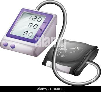 Blood pressure monitor kit illustration - Stock Photo