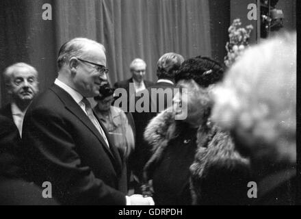 Rudolf Hartmann at the reopening of the Munich National Theatre, 1963 - Stock Photo