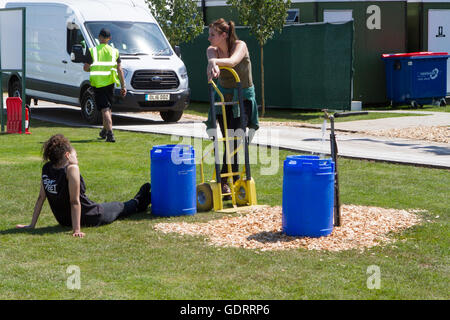 RHS Tatton Park Flower Show Exhibits. 19th July, 2016. Fabulous exhibit shown at the RHS Tatton Flower Show in Knutsford, - Stock Photo