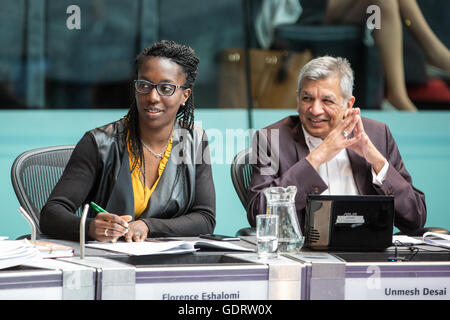 London, UK. 20th July, 2016. Labour London Assembly Members Florence Eshalomi and Unmesh Desai at Mayor's Question - Stock Photo