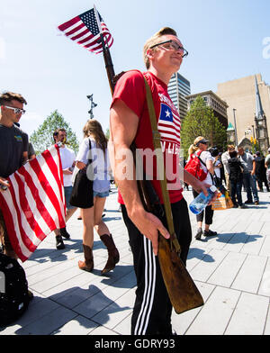 Cleveland, USA. 20th July, 2016. Jul 20, 2016; Cleveland, OH, USA; General scene in downtown Cleveland at the site - Stock Photo