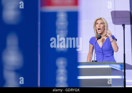 Cleveland, Ohio, USA. 20th July, 2016. Conservative Talk show personality Laura Ingraham addresses the third day - Stock Photo