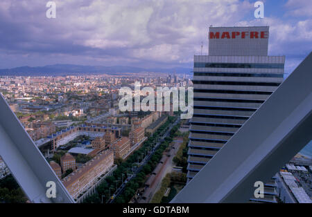Barcelona: as seen from Hotel Arts - Stock Photo
