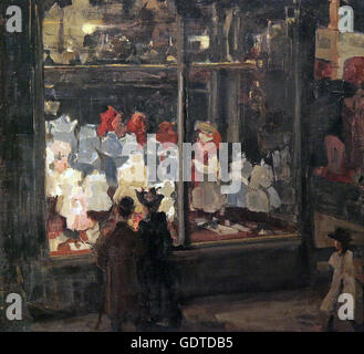 Shop Window Amsterdam 1894 by Isaac Israels 1865-1934 - Stock Photo