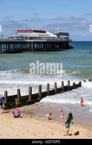 Cromer beach in Norfolk - Stock Photo