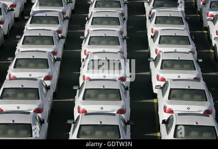 New BMW cars for export - Stock Photo