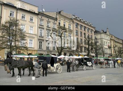 Main Market Square, Krakow - Stock Photo