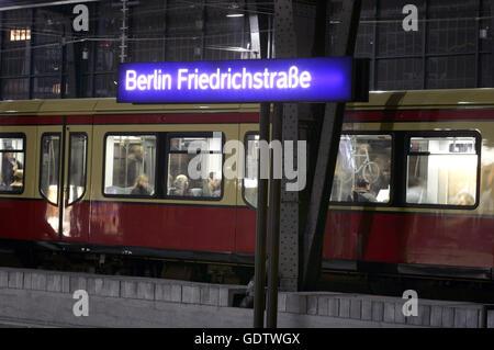 Friedrichstrasse station - Stock Photo