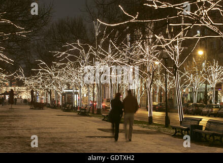 ... Unter den Linden - Stock Photo & The boulevard Unter den Linden is decorated with illuminated trees ...