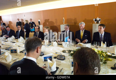 Dinner at the Federal Chancellery - Stock Photo