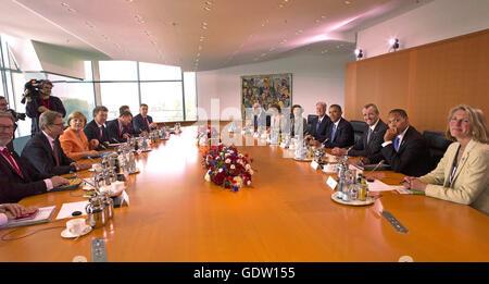 Westerwelle, Merkel, Obama and Murphy - Stock Photo