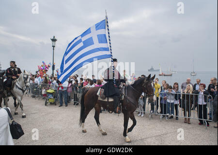 Celebrations marking the 100th anniversary of the liberation of Thessaloniki - Stock Photo