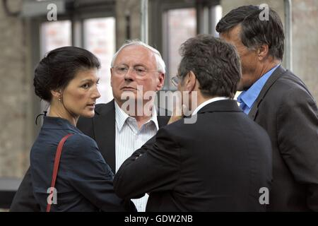 Wagenknecht, Lafontaine, Ernst and Maurer - Stock Photo