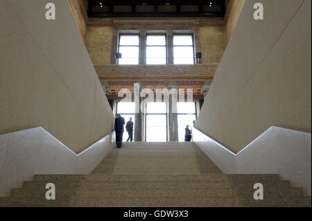 The Neues Museum (New Museum) on Museum Island, Berlin - Stock Photo